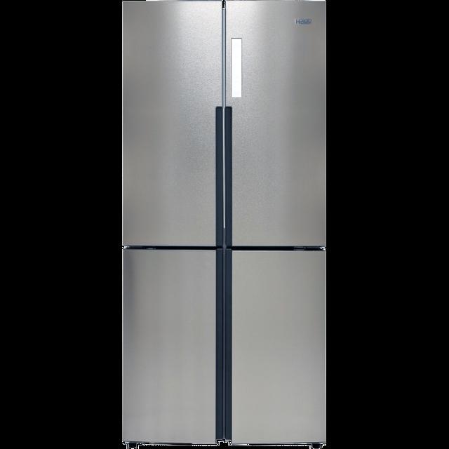 Haier HTF-556DP6 American Fridge Freezer - Silver - A+ Rated