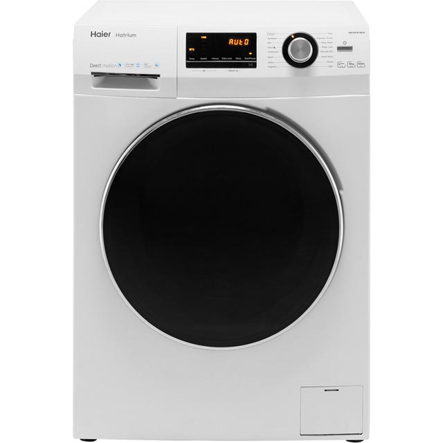 Haier Hatrium HW100-B14636 10Kg Washing Machine with 1400 rpm - White - A+++ Rated - HW100-B14636_WH - 1