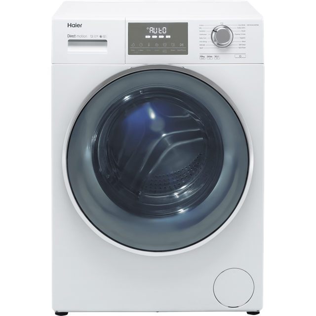 Haier HW100-B14876N 10Kg Washing Machine with 1400 rpm - White - A Rated