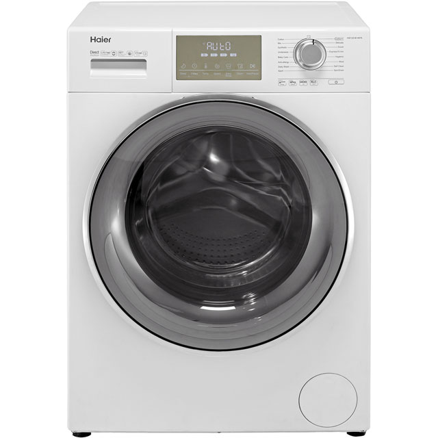 Haier HW120-B14876 12kg 1400rpm Freestanding Washing Machine With Steam & Quiet Direct Motion Motor- White