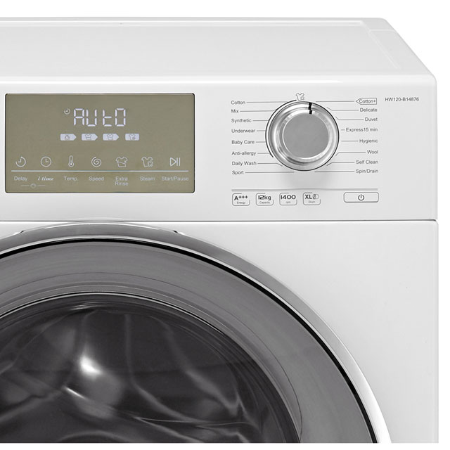 Haier HW120-B14876 12Kg Washing Machine - White - HW120-B14876_WH - 3