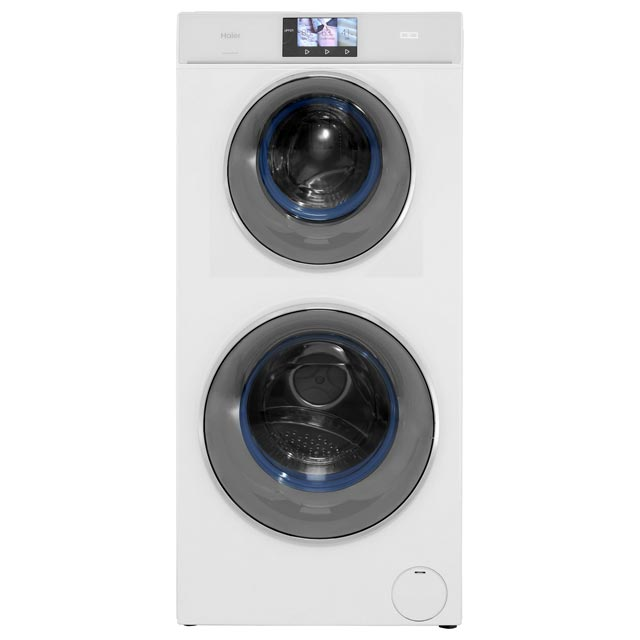 Haier DUO HW120-B1558 12Kg Washing Machine with 1500 rpm - White - A+++ Rated - HW120-B1558_WH - 1