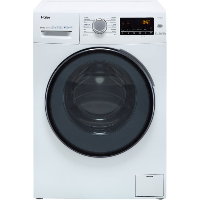 Haier HW80-B1439 8Kg Washing Machine with 1400 rpm - White - A+++ Rated - HW80-B1439_WH - 1
