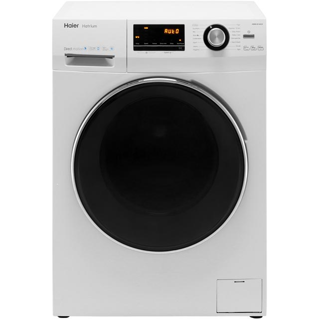 Haier Hatrium HW80-B14636 8Kg Washing Machine with 1400 rpm - White - A+++ Rated - HW80-B14636_WH - 1