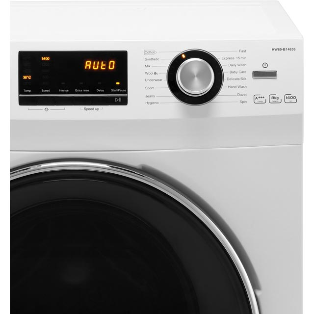 Haier Hatrium HW80-B14636 8Kg Washing Machine - White - HW80-B14636_WH - 3