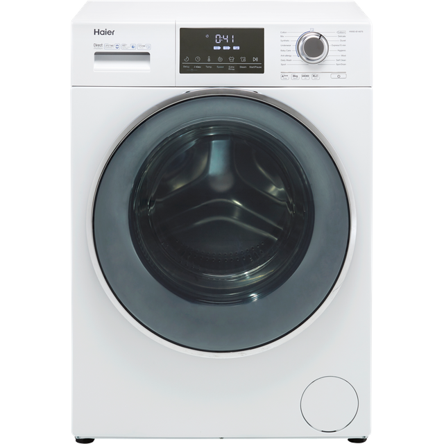 Haier HW80-B14876 8Kg Washing Machine with 1400 rpm - White - A+++ Rated - HW80-B14876_WH - 1