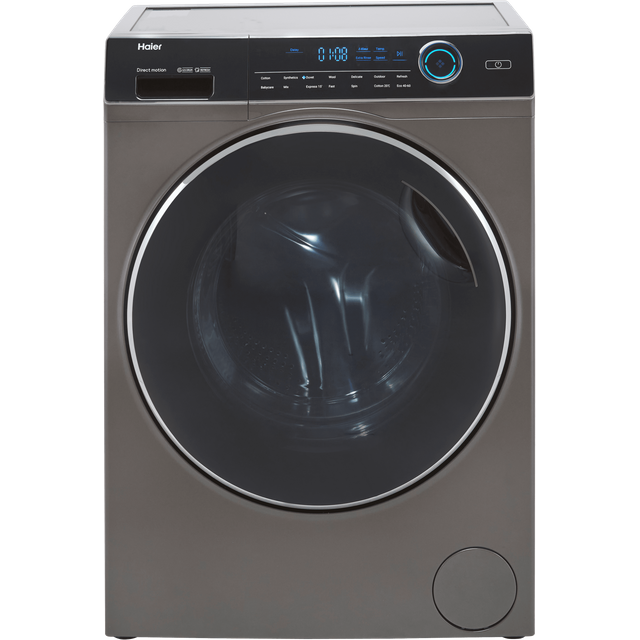 Haier i-Pro series 7 HW80-B14979S 8Kg Washing Machine with 1400 rpm - Graphite - A Rated