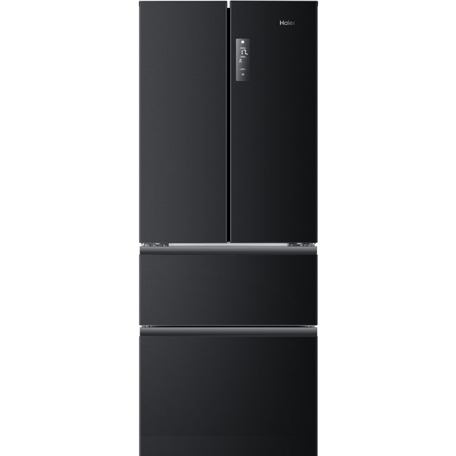 Haier HB14FBAA American Fridge Freezer - Black - A+ Rated