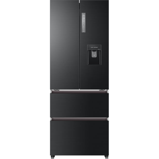 Image of Haier HB16WSNAA American Fridge Freezer - Black / Stainless Steel - F Rated