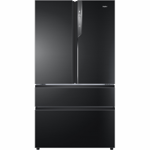 Haier HB25FSNAAA American Fridge Freezer - Black / Stainless Steel - A++ Rated Best Price, Cheapest Prices