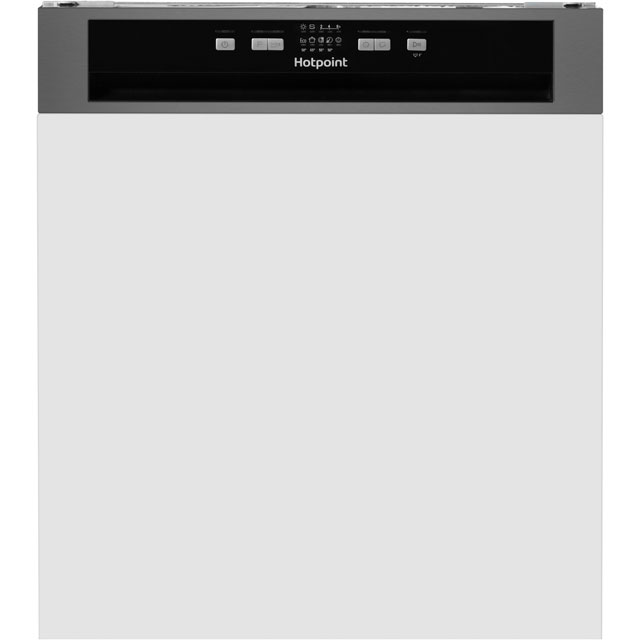 Hotpoint Aquarius HBC2B19XUK Semi Integrated Standard Dishwasher - Stainless Steel Control Panel - A+ Rated