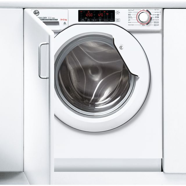 Hoover H-WASH&DRY 300 PRO HBDOS695TME Wifi Connected Integrated 9Kg / 5Kg Washer Dryer with 1600 rpm - HBDOS695TME_WH - 1