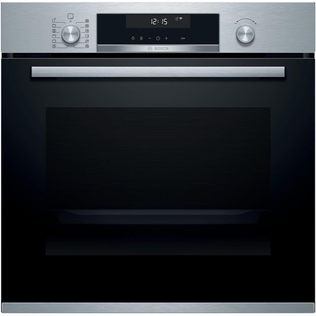 Bosch Serie 6 HBG5585S6B Built In Electric Single Oven - Stainless Steel - HBG5585S6B_SS - 1