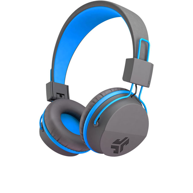 JLAB Jbuddies Studio Kids Over-Ear Wireless Headphones - Grey / Blue