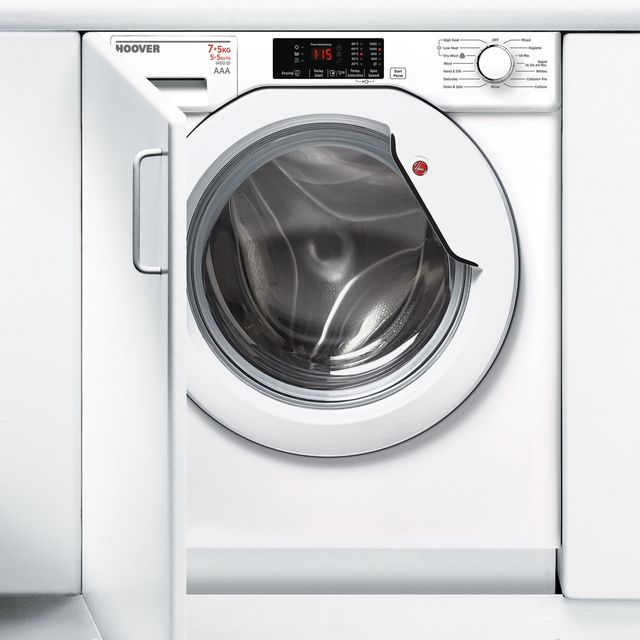 Hoover HBWD7514DA Built In 7Kg / 5Kg Washer Dryer - White - HBWD7514DA_WH - 1
