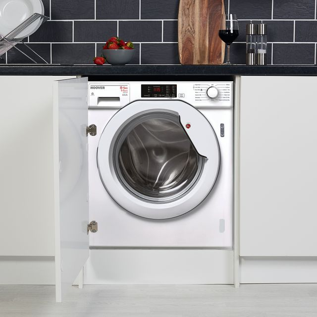 Hoover H-WASH 300 HBWD8514DC Integrated 8Kg / 5Kg Washer Dryer with 1400 rpm - HBWD8514DC_WH - 1