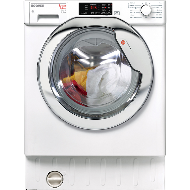 Hoover HBWD8514DC Integrated Washer Dryer in White