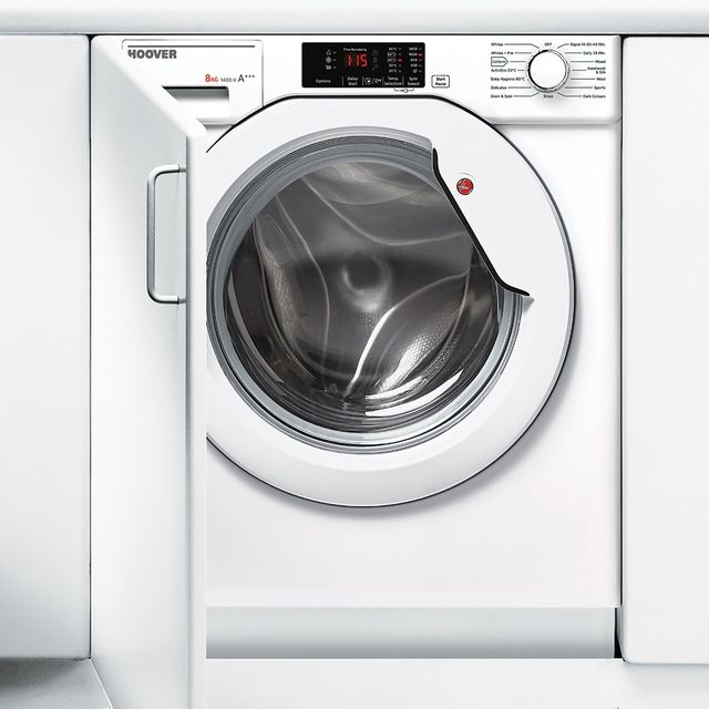 Hoover HBWM814D Built In Washing Machine - White - HBWM814D_WH - 1