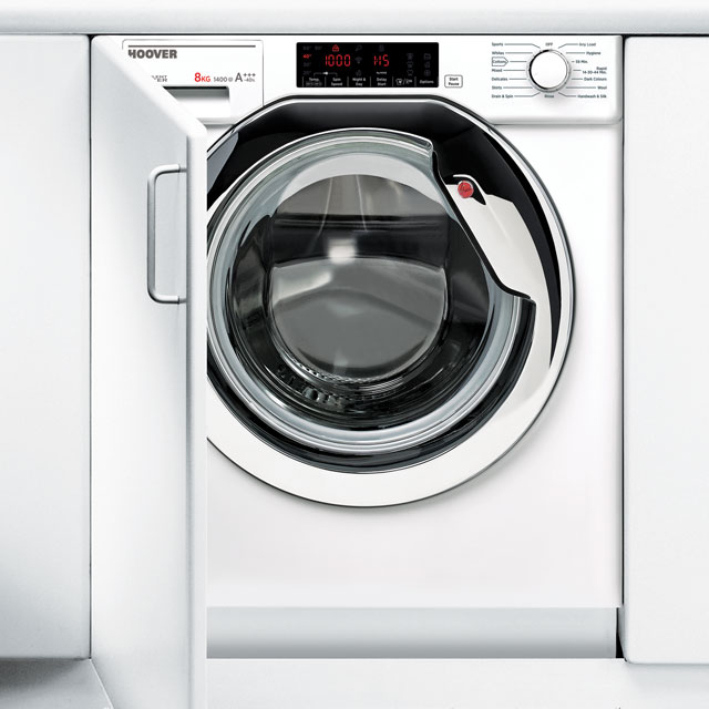Hoover HBWM814TAHC Integrated 8Kg Washing Machine with 1400 rpm Best Price, Cheapest Prices