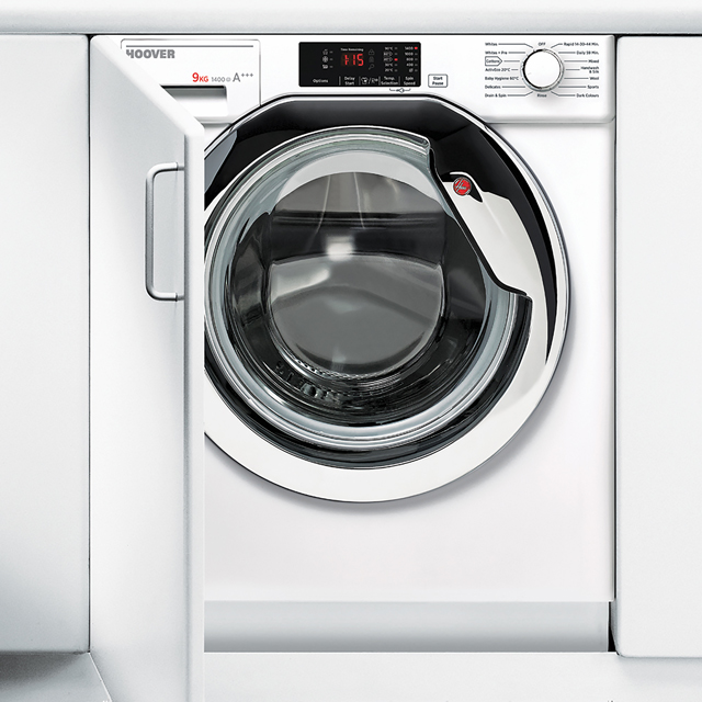 Hoover HBWM914DC Integrated 9Kg Washing Machine with 1400 rpm - A+++ Rated Best Price, Cheapest Prices