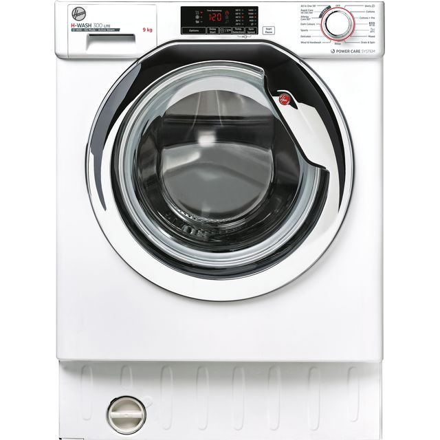 Hoover H-WASH 300 LITE HBWS49D1ACE Built In 9Kg Washing Machine - White / Chrome - HBWS49D1ACE_WH - 1