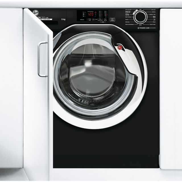 Hoover H-WASH 300 LITE HBWS49D3ACBE Built In 9Kg Washing Machine - Black - HBWS49D3ACBE_BK - 1