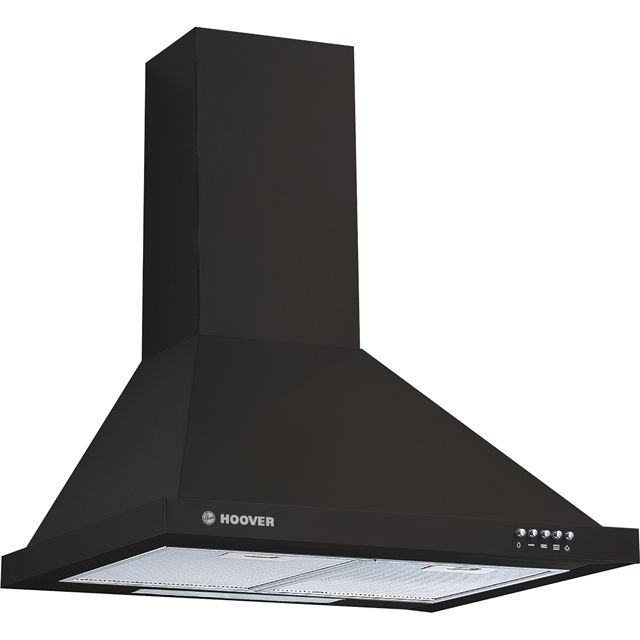 Hoover HCE160N 60 cm Chimney Cooker Hood - Black - C Rated - HCE160N_BK - 1