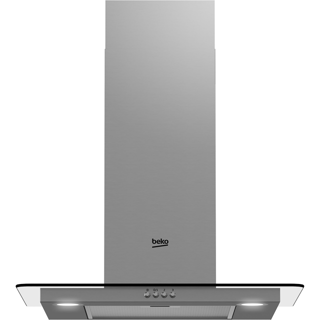 Beko HCF61620X 60 cm Chimney Cooker Hood - Stainless Steel - B Rated - HCF61620X_SS - 1