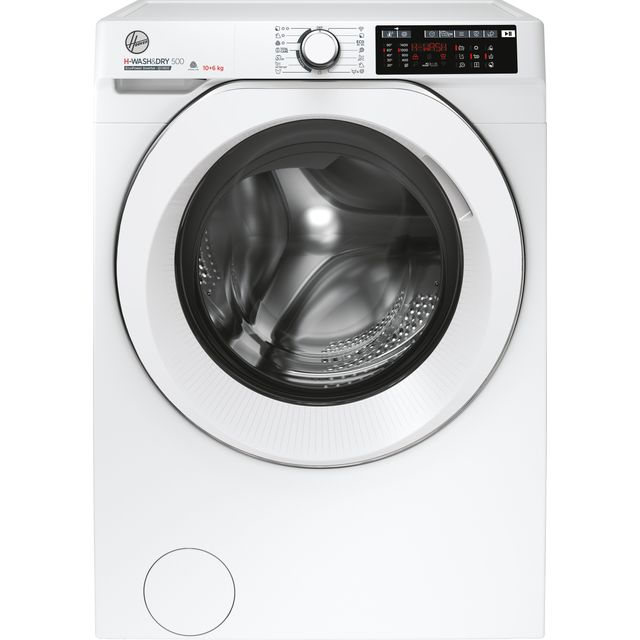 Hoover H-WASH 500 HD4106AMC/1 Wifi Connected 10Kg / 6Kg Washer Dryer with 1400 rpm - White - A Rated
