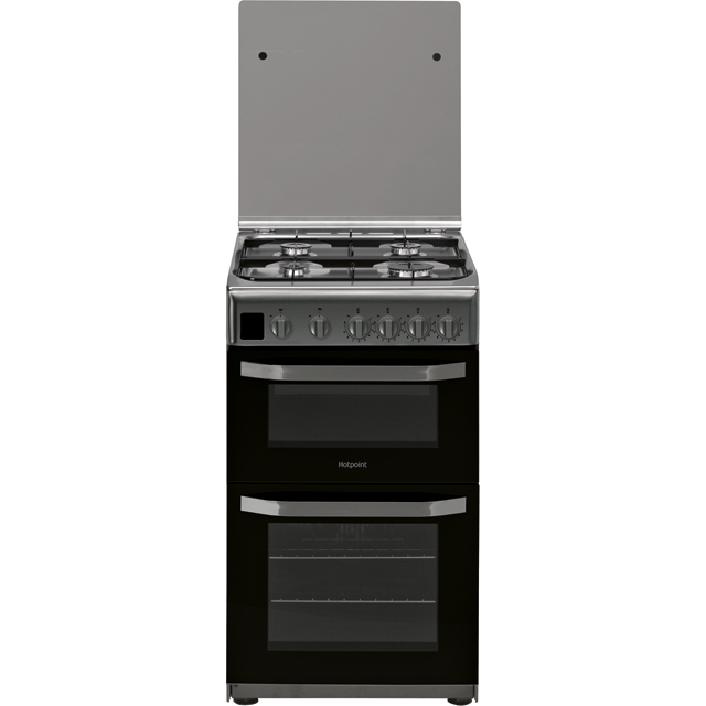 Hotpoint Cloe HD5G00CCX 50cm Gas Cooker with Full Width Gas Grill - Stainless Steel - A Rated - HD5G00CCX_SS - 1