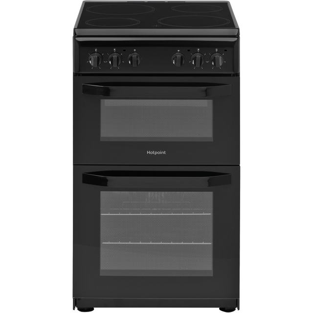 Hotpoint Cloe HD5V92KCB 50cm Electric Cooker with Ceramic Hob - Black - B Rated - HD5V92KCB_BK - 1