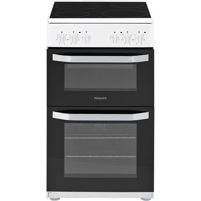 Hotpoint Cloe HD5V92KCW Electric Cooker - White - HD5V92KCW_WH - 1