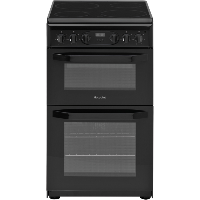 Hotpoint Cloe HD5V93CCB 50cm Electric Cooker with Ceramic Hob - Black - A Rated - HD5V93CCB_BK - 1