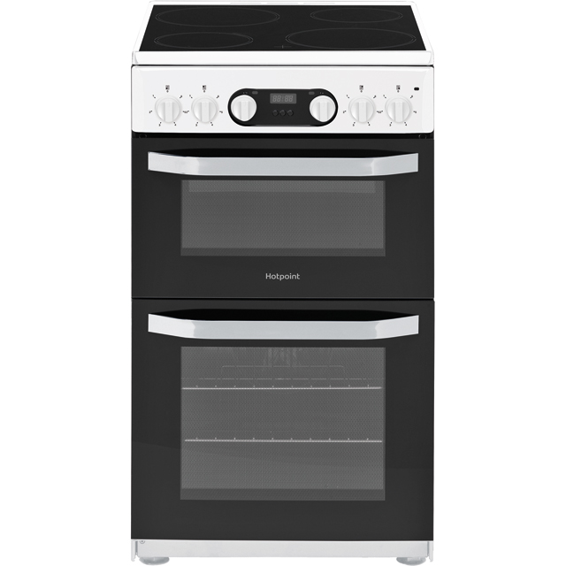 Hotpoint Cloe HD5V93CCW 50cm Electric Cooker with Ceramic Hob - White - A Rated - HD5V93CCW_WH - 1