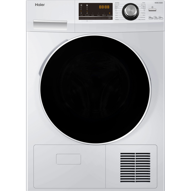 Haier HD80-A636 8Kg Heat Pump Tumble Dryer - White - A++ Rated - HD80-A636_WH - 1
