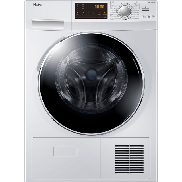 Haier HD90-A636 9Kg Heat Pump Tumble Dryer - White - A++ Rated - HD90-A636_WH - 1