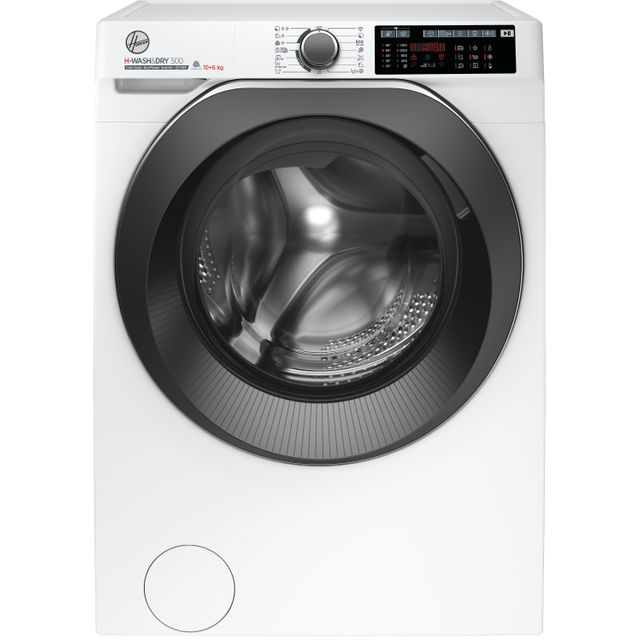 Hoover H-WASH 500 HDD4106AMBC Wifi Connected 10Kg / 6Kg Washer Dryer with 1400 rpm - White - A Rated