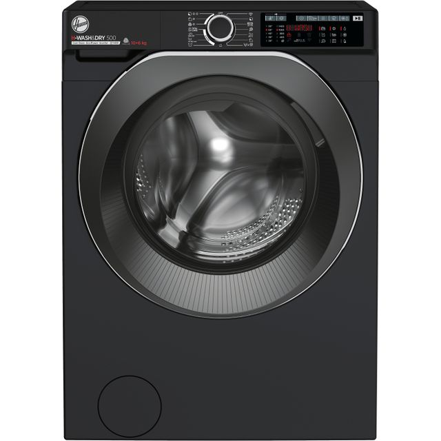 Hoover H-WASH 500 HDD4106AMBCB Wifi Connected 10Kg / 6Kg Washer Dryer with 1400 rpm - Black - A Rate