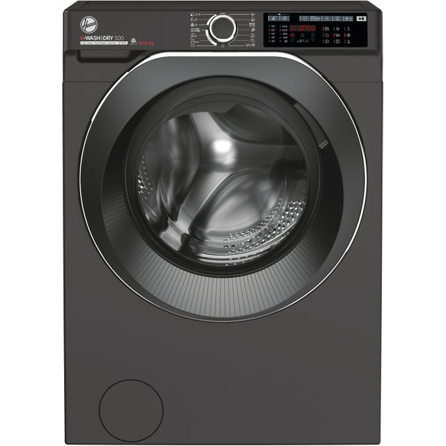 Hoover H-WASH 500 HDD4106AMBCR Wifi Connected 10Kg / 6Kg Washer Dryer with 1400 rpm - Graphite - A R