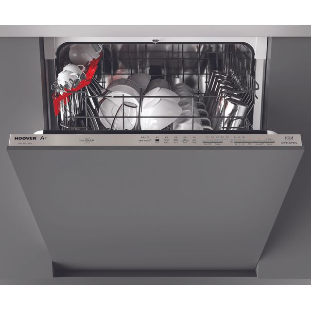 Hoover H-DISH 300 HDI1LO38SA Fully Integrated Standard Dishwasher - Silver Control Panel with Fixed Door Fixing Kit - F Rated
