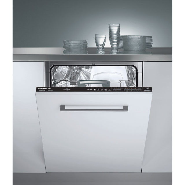 Hoover HDI1LO63B Fully Integrated Standard Dishwasher - Black Control Panel with Fixed Door Fixing Kit - A+ Rated - HDI1LO63B_BK - 1