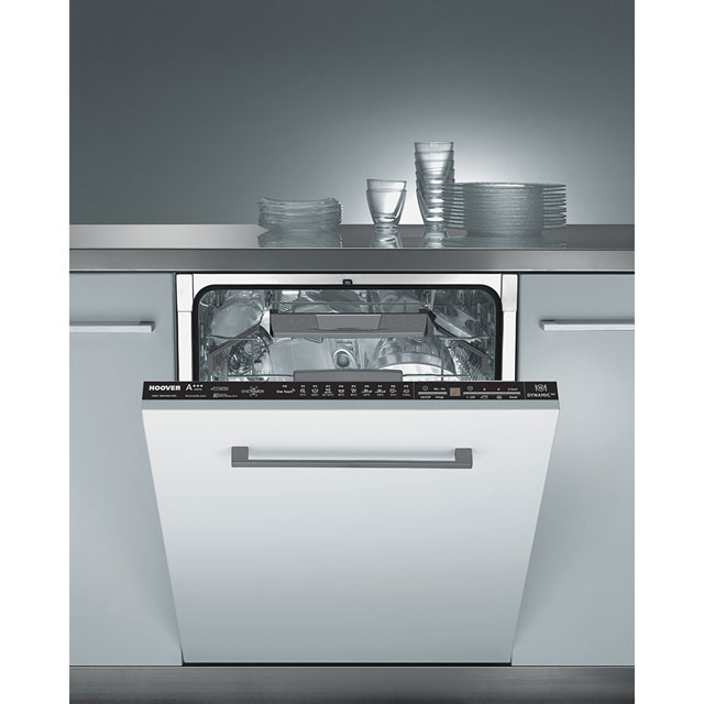Hoover HDI3DO623D Fully Integrated Standard Dishwasher - Silver Control Panel with Fixed Door Fixing Kit - A+++ Rated - HDI3DO623D_SI - 1