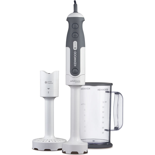 Kenwood Triblade HDP300WH Hand Blender with 2 Accessories - White - HDP300WH_WH - 1