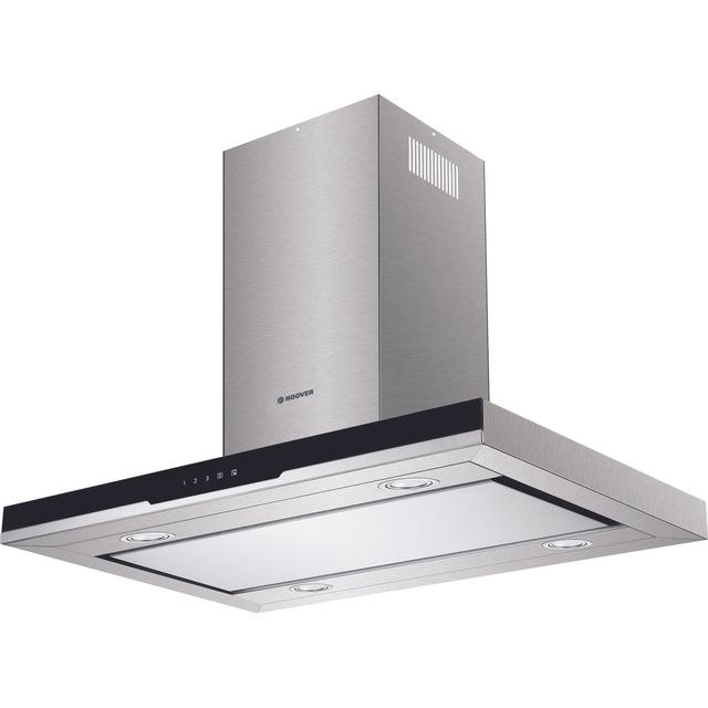 Hoover H-HOOD 700 HDSVI985B 90 cm Integrated Cooker Hood - Stainless Steel / Black Glass - HDSVI985B_SS - 1