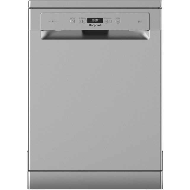 Hotpoint HFC3C26WSV Free Standing Dishwasher in Silver