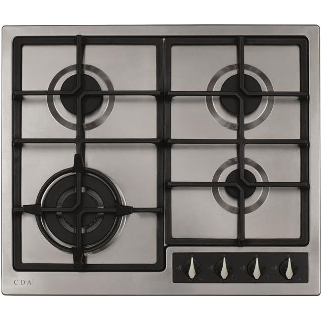 CDA HG6351SS Built In Gas Hob - Stainless Steel - HG6351SS_SS - 1