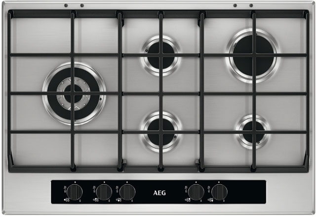 AEG HG755551SY 74cm Gas Hob - Stainless Steel - HG755551SY_SS - 1