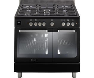 Hoover 90cm Dual Fuel Range Cooker - Black - A Rated