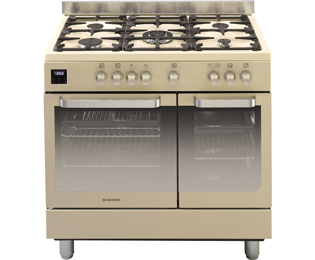 Hoover HGD9395IV 90cm Dual Fuel Range Cooker - Ivory Cream - A Rated - HGD9395IV_IV - 1