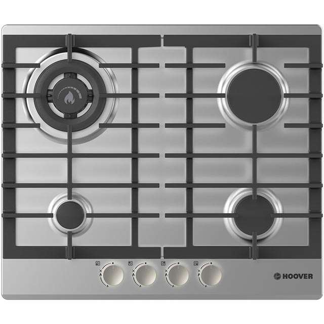 Hoover HGH64SDWCEX 60cm Gas Hob - Stainless Steel